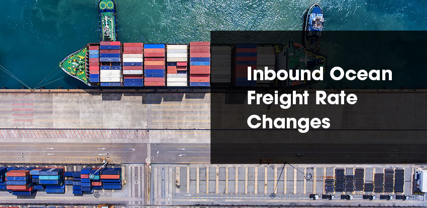 Ocean Freight Rate Changes provided by GPSM
