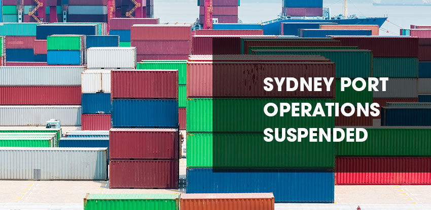 Sydney Port Operations Suspended December 2017