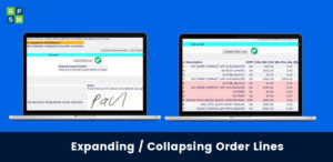 Expanding and Collapsing Order Lines