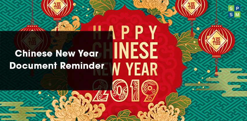 Chinese New Year – Document Reminder
