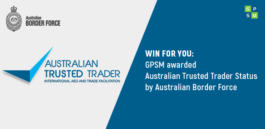 GPSM awarded Australian Trusted Trader Status
